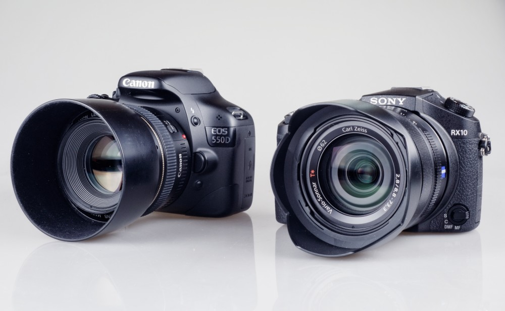 Sony RX10 und Canon 550D
